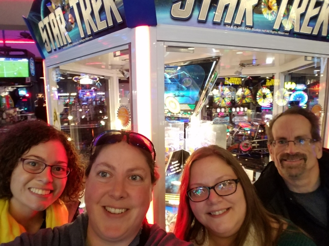 Selfie in front of the Star Trek game